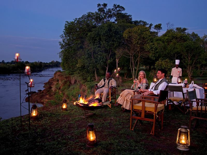 sanctuary olonana mara riverbank diners