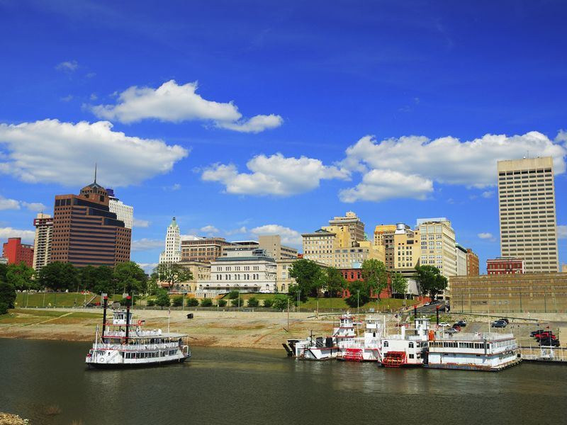 steamboats on the river at memphis