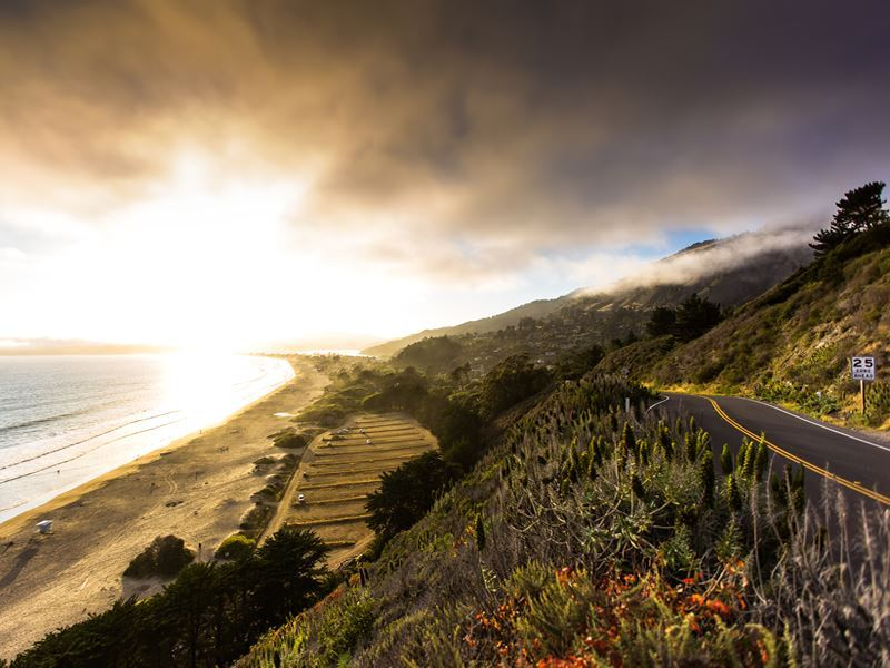 stinson beach sunset marin county