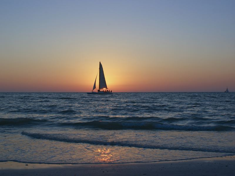 Sunset sailing in Clearwater
