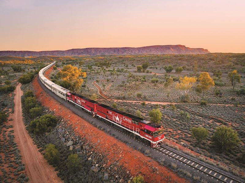 the ghan travelling outback