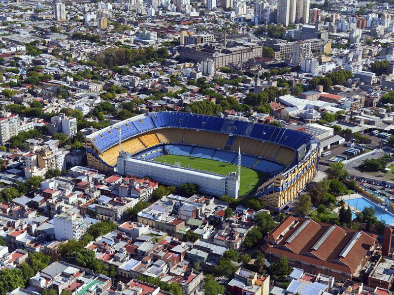 view from the helicopter for la boca buenos aires argentina