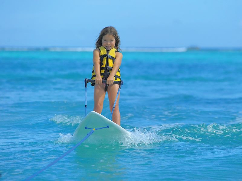 water based fun for kids at trou aux biches