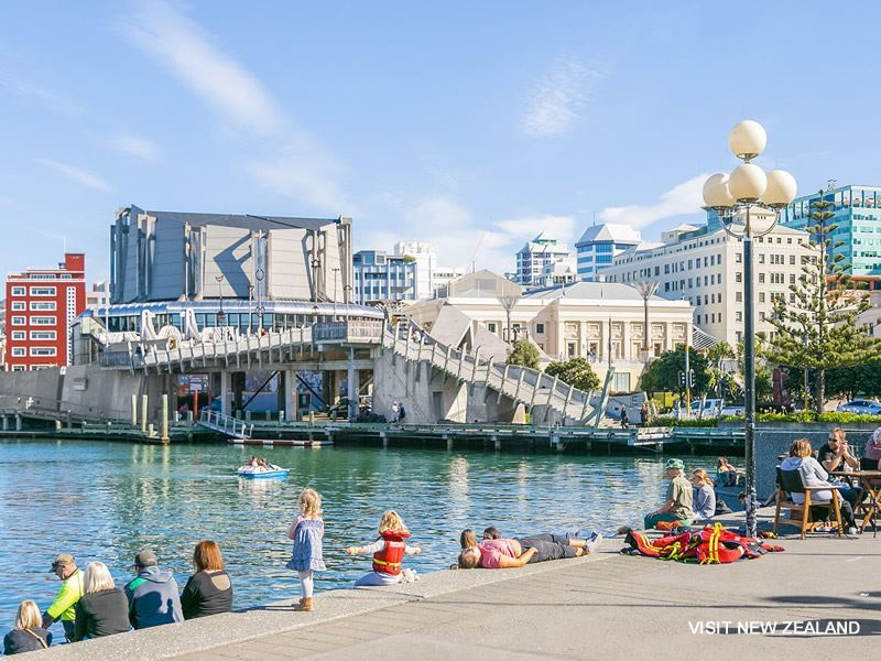 wellington waterfront crowds new zealand web only