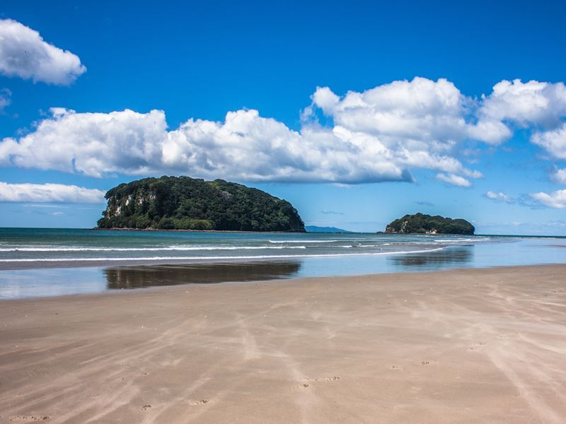 whangamata beach north island new zealand