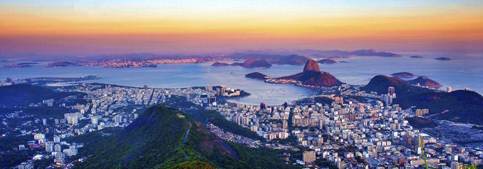 Sun fading over Rio De Janeiro
