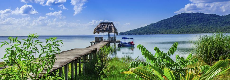 Pier on Lake Peten, Guatemala