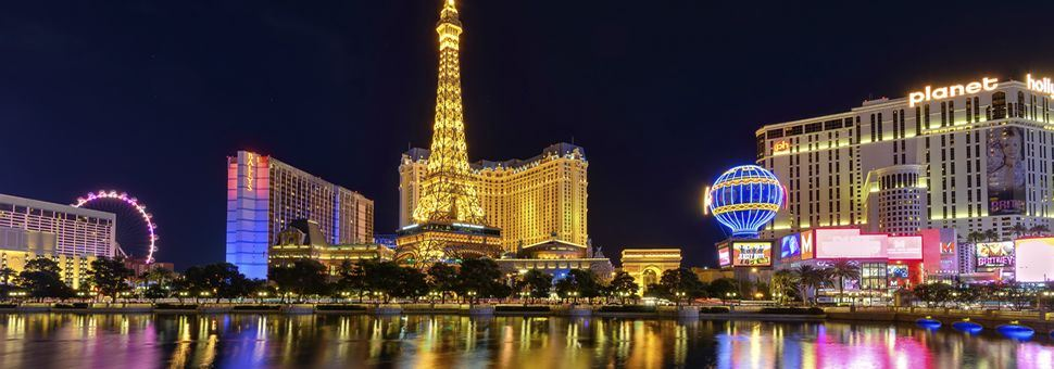 Las Vegas illuminated by night