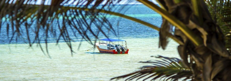 Small boat off Kenya's coast, Mombasa