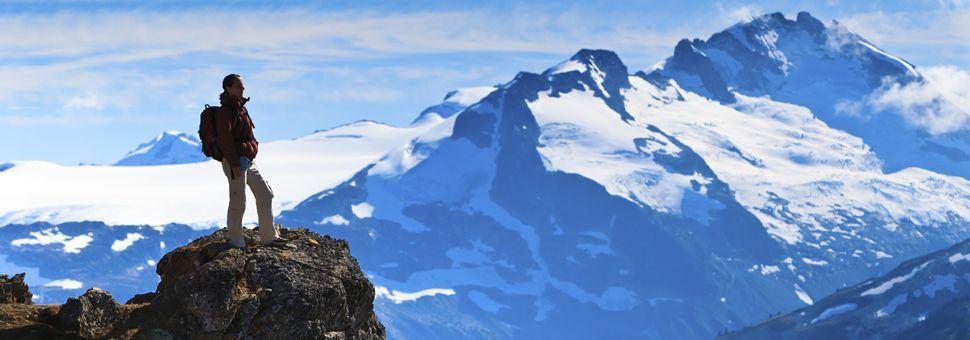 Mountain hiking in British Columbia