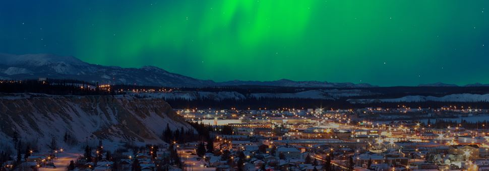 Northern lights over Whitehorse
