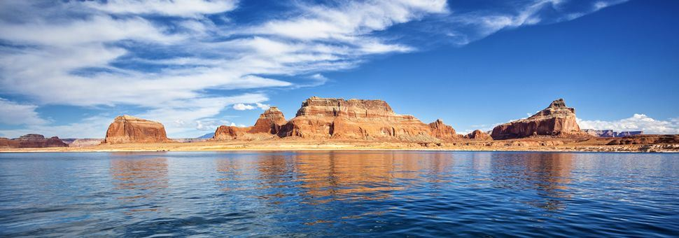 Panoramic view of Lake Powell