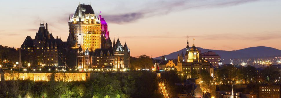 Quebec City's Chateau Frontenac at night