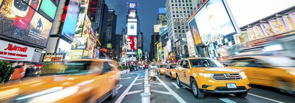 Times Square taxi cabs